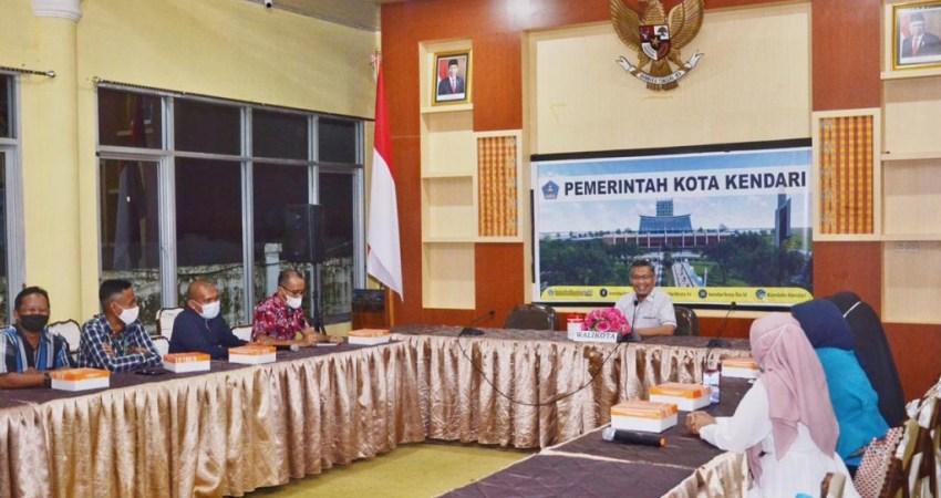 Wali Kota Kendari saat menerima kunjungan AMSI Sultra