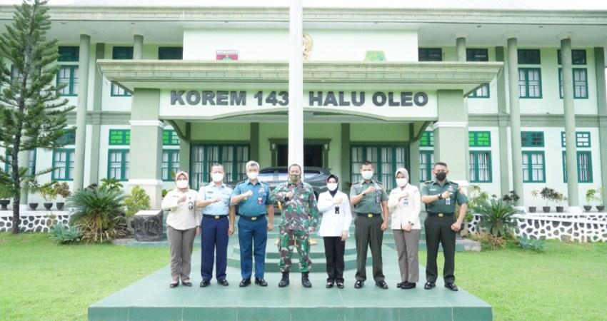 Kunjungan Tim Pusrehab Kemhan di Korem 143/HO