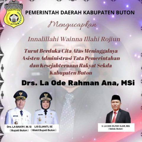 Iklan Duka Pemkab Buton