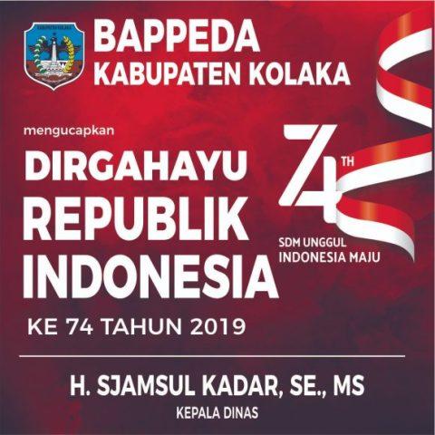 Iklan HUT 17 Bappeda Kolaka
