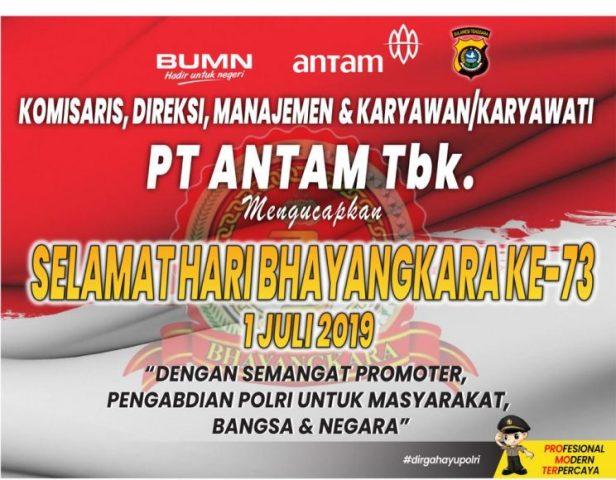 Iklan HUT Bhayangkara Antam