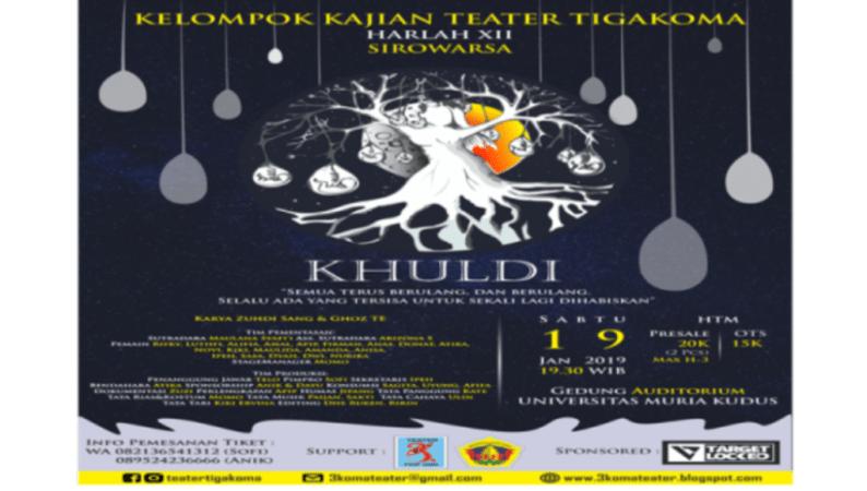 Teater Tigakoma Hadirkan Pertunjukan Kisah Adam dan Hawa