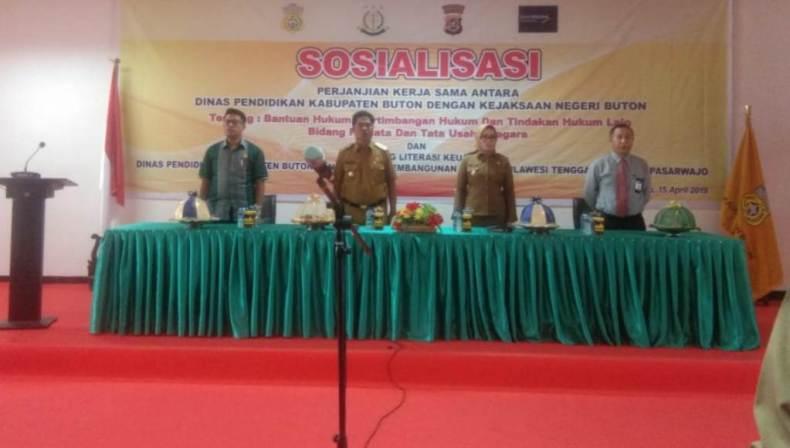 Launching Literisasi Keuangan Dispen Buton