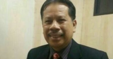 Ketua Pania Pemilihan Rektor Universitas Halu Oleo Kendari Prof. Hilaluddin. FOTO : USNIADIN