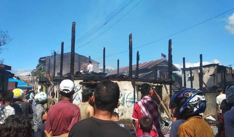 Kebakaran di Baubau