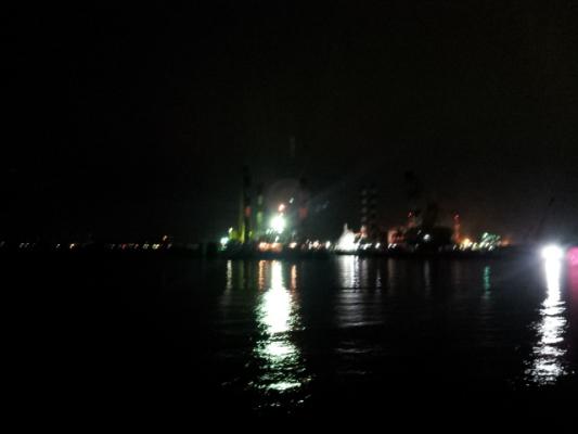 沖波止夜の風景