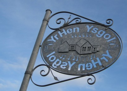Sign by J E Thomas and Son, outside the old school