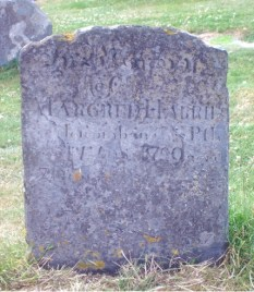 In Memory of MARGRED HARRIES Hescomb in this P.sh _ _ _ _ _ _ 1790 aged 71 year_