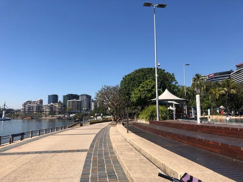 Walkway around river