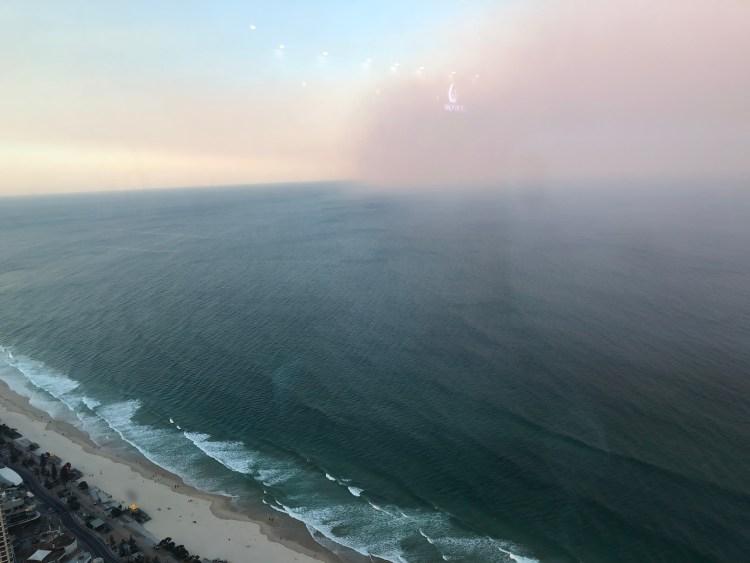 fog over ocean