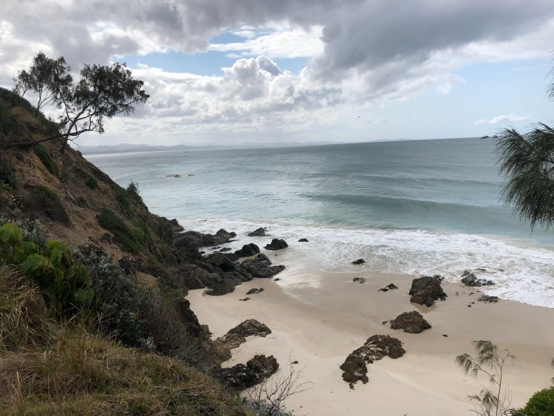 Ocean over cliffs