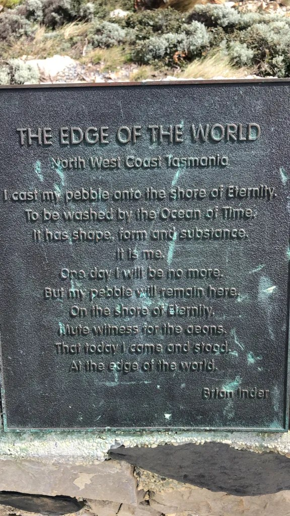 edge of world sign