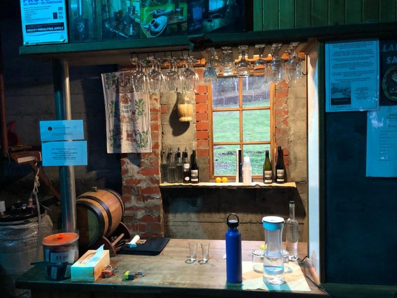 Distillery tasting room