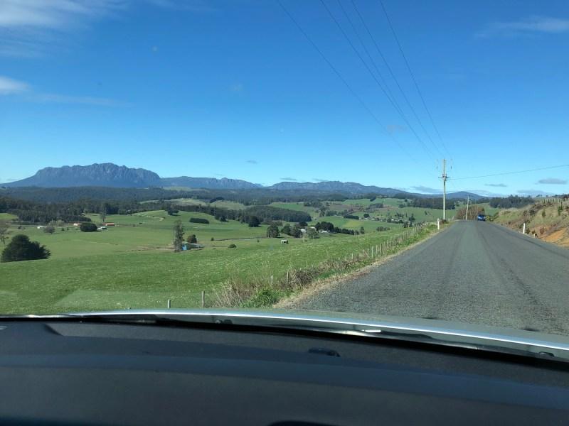 road through farms