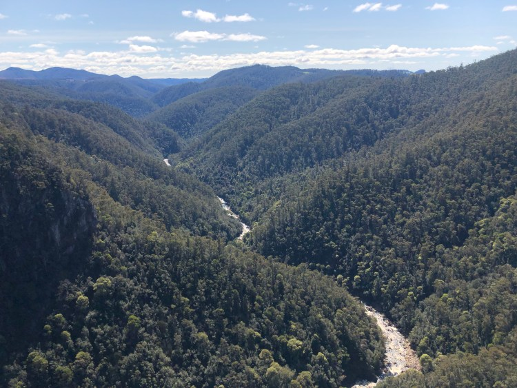 River through Mountains