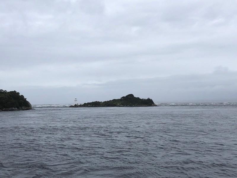 Light house on island