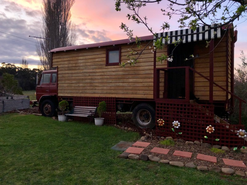 truck converted to a guest house