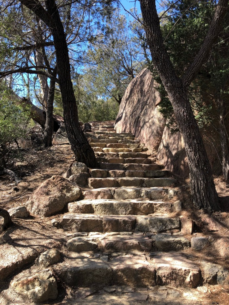 stairs in hiking path