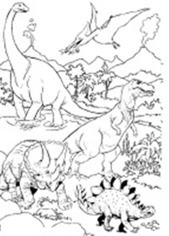 Dinosaurer tegninger til fargelegging Malebok med dyr  Dinosaurer bilder