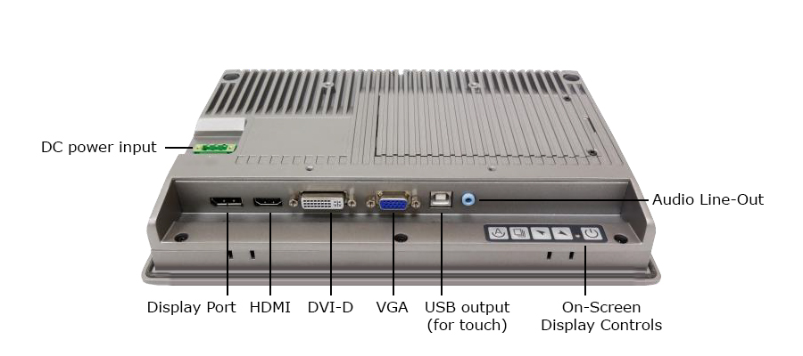 Back panel of TD-45-10 including inputs and outputs