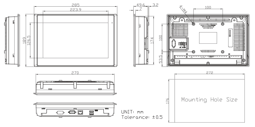 TP-A945-10 Technical Drawings