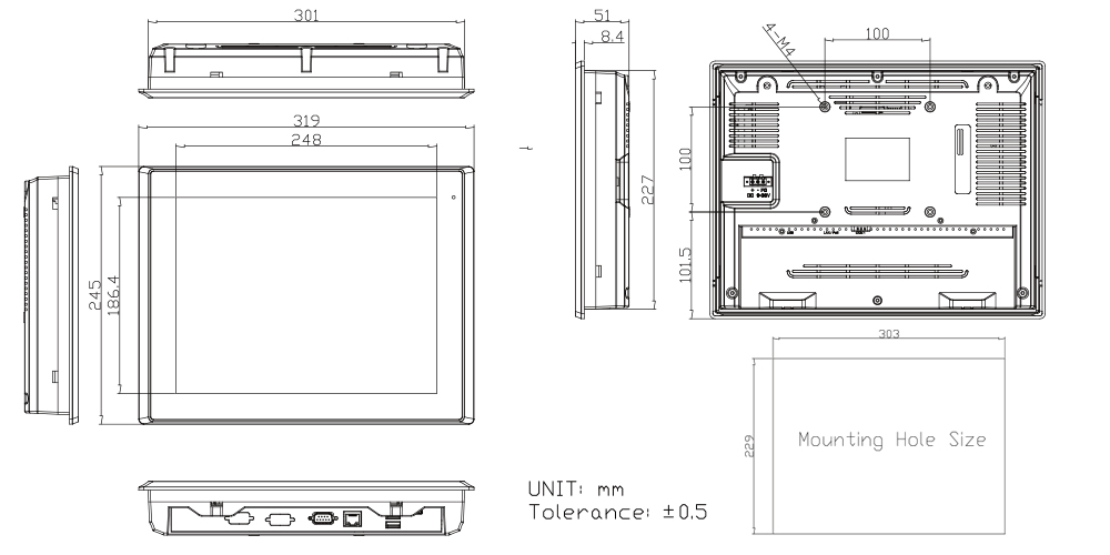 TP-A945-12 Technical Drawings