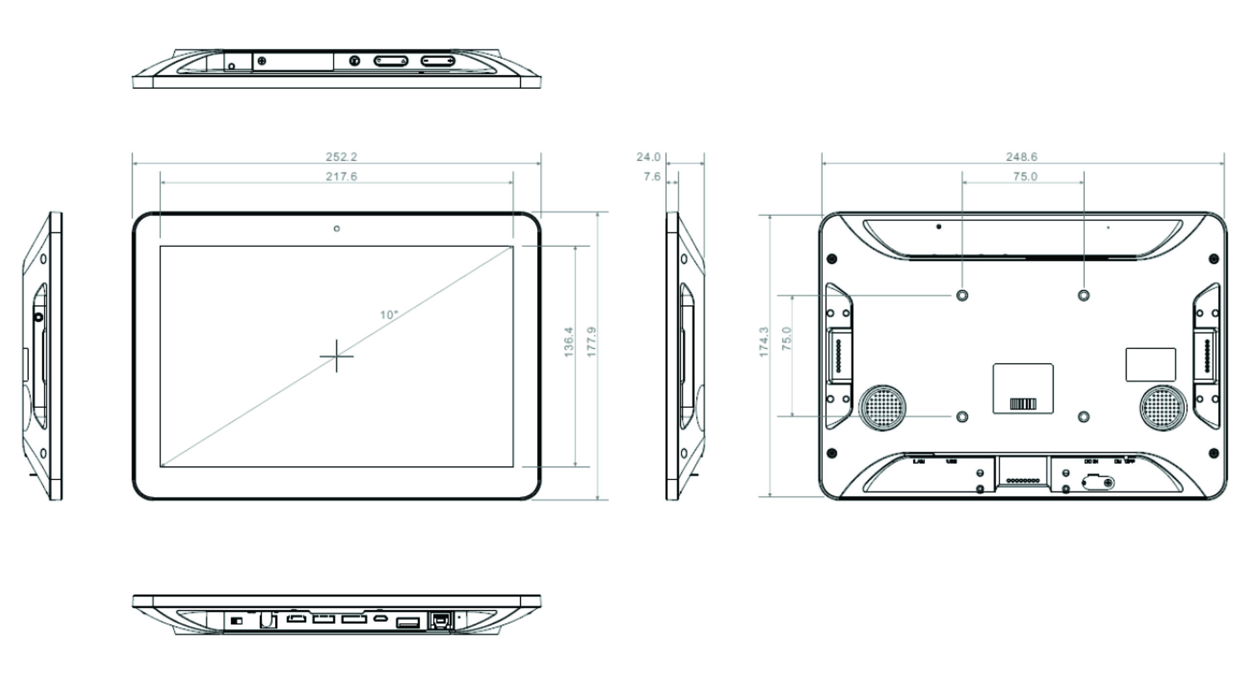 TP-A950-10 2D Drawing