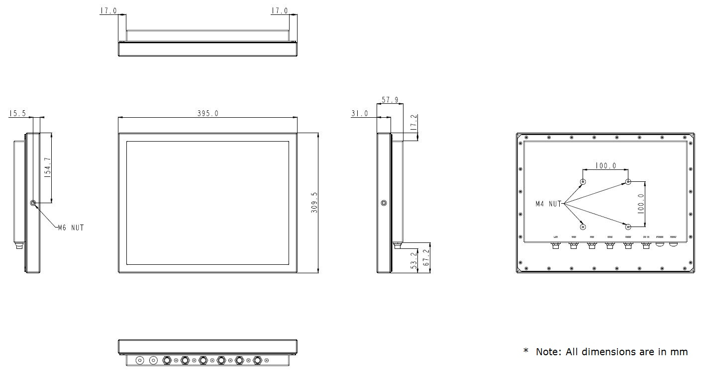 Stainless Steel Computer Technical Drawing TS-4010-15