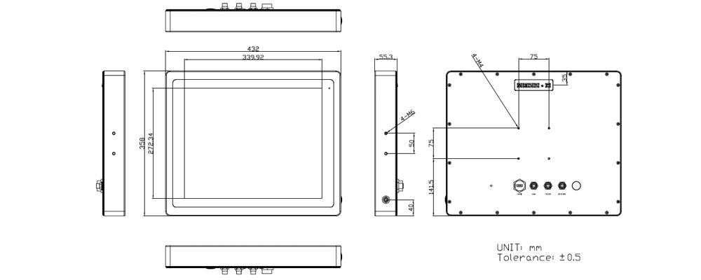 TSD-45-17 Technical Drawing