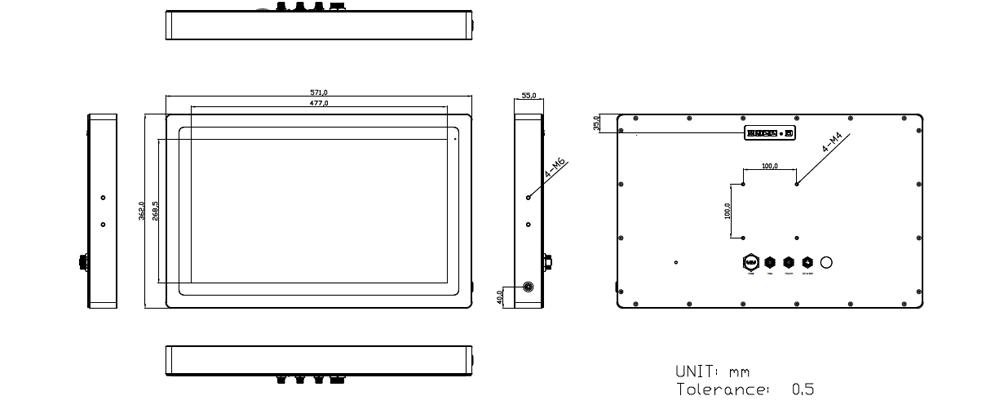 TSD-45-22 Technical Drawing
