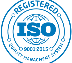 Registered ISO 9001:2015 Quality Management System badge