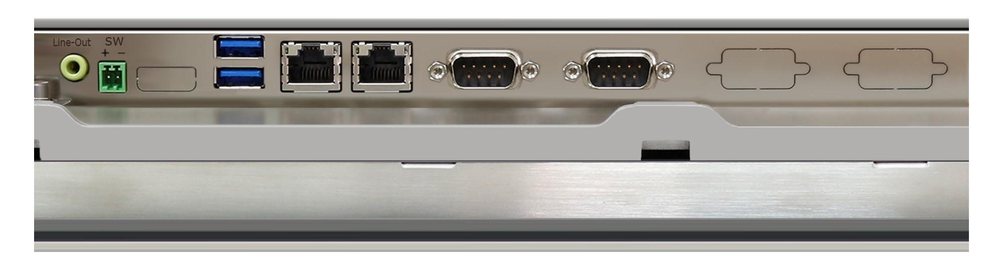 TSP-2945 Industrial Panel PC IOs
