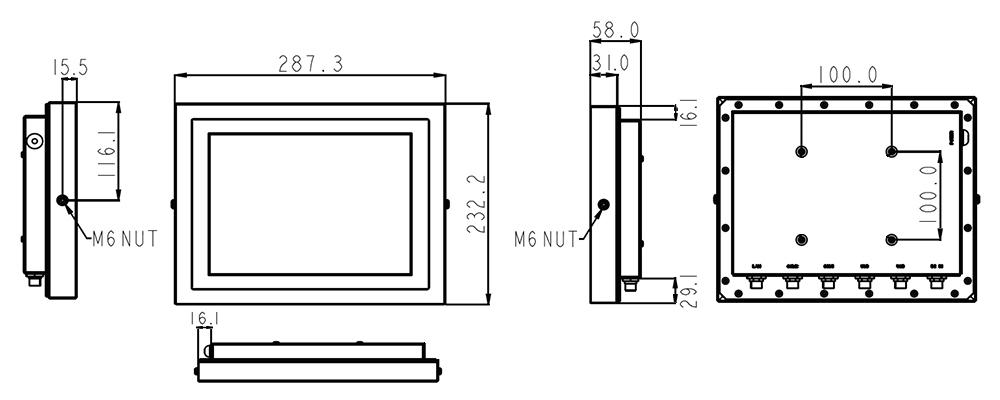TS-4010-10 Technical Drawing