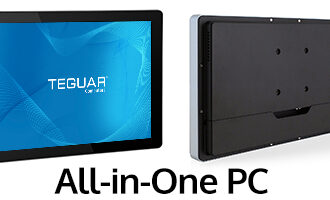 Front and back views of Teguar All-in-One PC