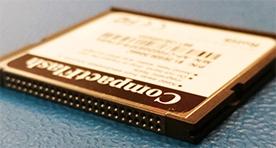 Compact flash computer storage