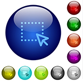 Multiple colored icons with large blue circle featured