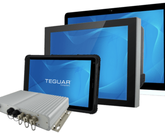 Three Teguar panel pcs and a waterproof box pc