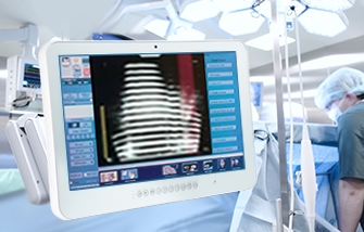 Medical PC panel being used in an operating room