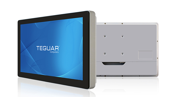 Front and back views of the Teguar TM-5040 medical monitor