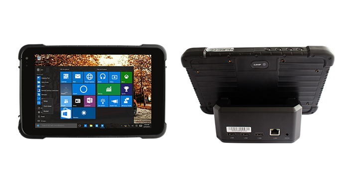 Front and back views of the Teguar TRT-4380 rugged tablet