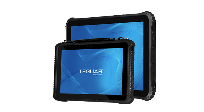Two sizes of the Teguar TRT-5180 series of rugged tablets