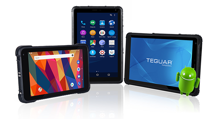 Three Teguar TRT-A5380 Android rugged tablets