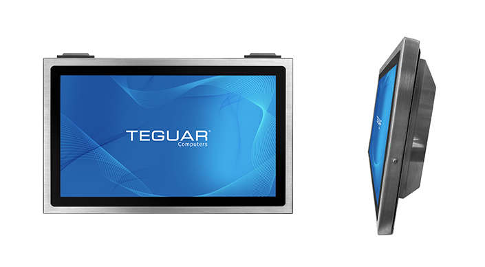Front and side views of a Teguar TSC series computer