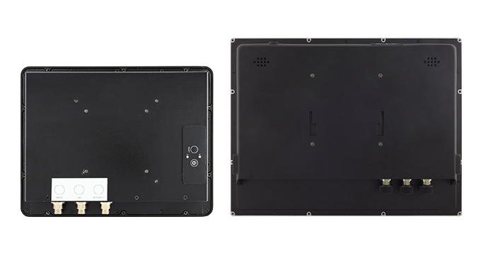 Back panels of two Teguar TWR-2920 series computers
