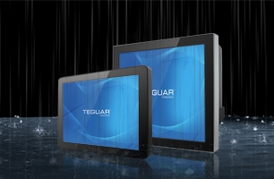 Two Teguar TWR-2920 series waterproof rugged computers in the rain