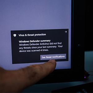 Windows virus & threat protection notification