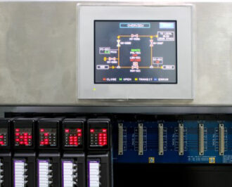HMI interface with PLC modules