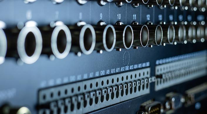 Close-up of PLC inputs