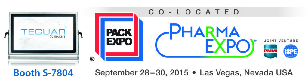 Teguar computers will be at Pack Expo, Booth S-7804 in Las Vegas, NV