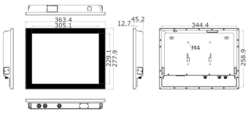Teguar TA-A920-15 technical drawing